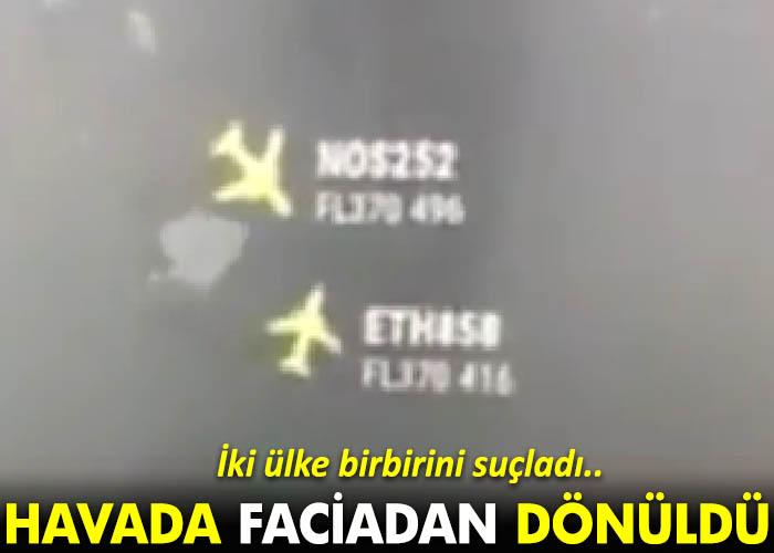 Video: Yolcu uçakları havada çarpışmanın eşiğinden döndü